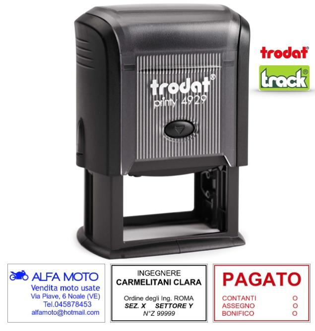 Completo di Personalizzazione Timbro Autoinchiostrante Personalizzato Imprint 11